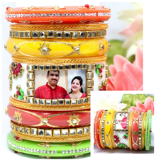 Personalised Dulhan Chuda Set | Bangles | Photo | wedding | design 20