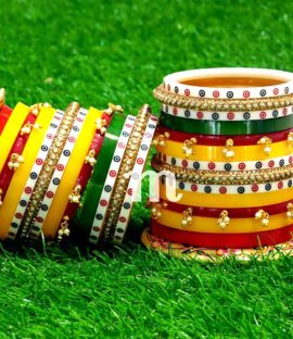 Beautiful Rajasthani suhag churha Rajwadi bridal bangle set