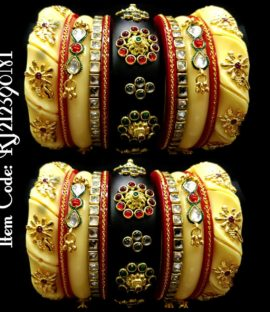 Beautiful Rajputi chooda with twisted bangle design