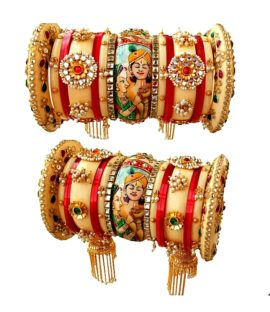 Rajasthani Rajwadi Bangle set with Royal couple design