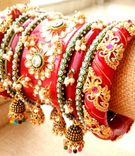 Rajwadi kundan bridal chura Latest Rajasthani Chuda