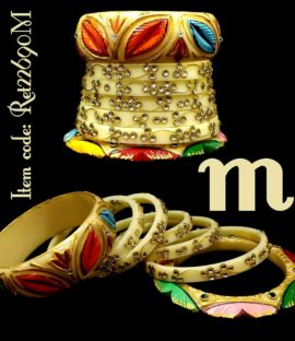 Rajputi suhag choorha with leaf design Rajwadi bridal bangle set