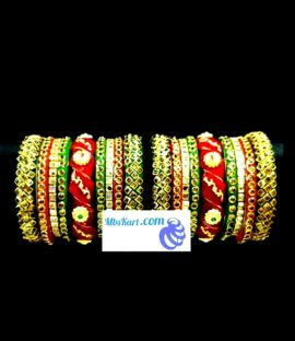 Rajwadi twisted bangle set Rajasthani Rajputi bridal bangle set