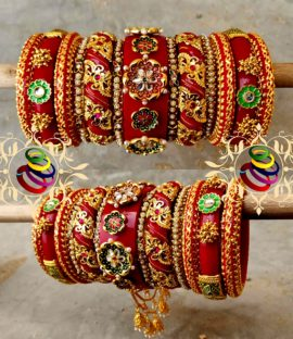 Royal Rajwadi bridal chura set Rajasthani bridal bangle set