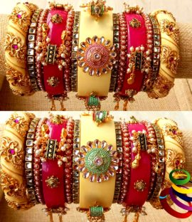Rajwadi bridal bangle set