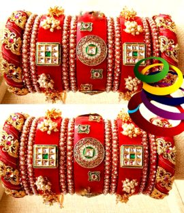 Rajasthani Rajputi suhag churha Rajwadi bridal bangle set