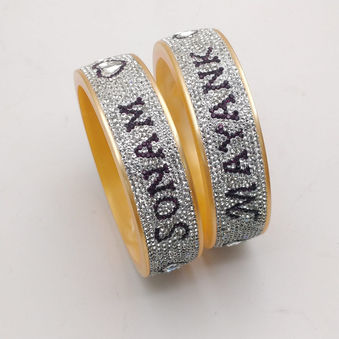 Personalized name bangle pair