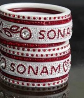 Personalized Name Bangles Best Bridal Bangles Set