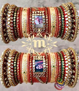 Punjabi Bridal bangles set | Name | Personalised | Photo | wedding