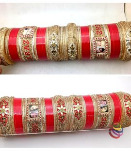 Personalized Punjabi Dulhan Chuda With Name And Photo