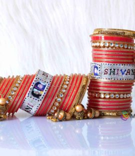 Best Bridal Bangles Set With Name And Photo