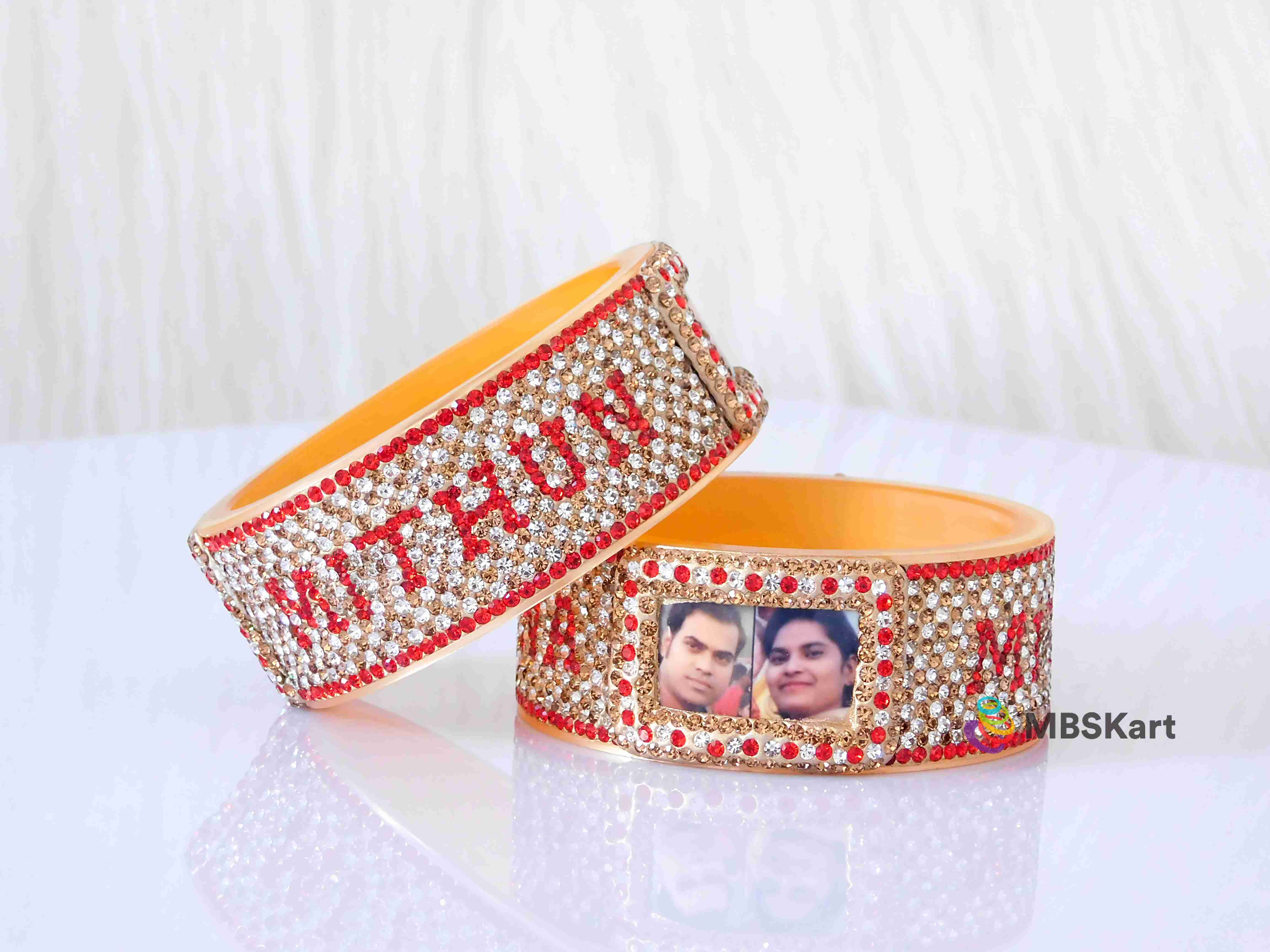 Personalized Punjabi Dulhan kada with name and photo