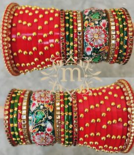 Rajwadi chura bridal bangle