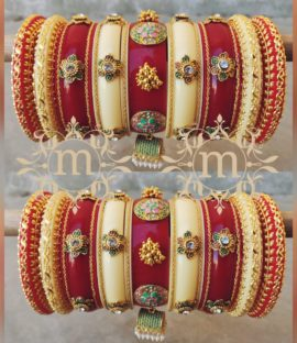 Rajasthani wedding Bangle Bridal Bangles Set, Wedding Chura, dulhan Chura, wedding Bangles