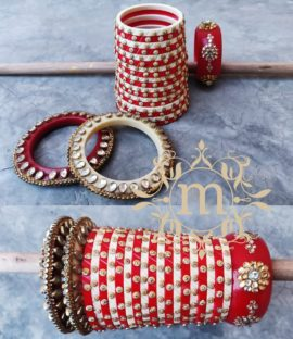 Beautiful Royal Rajwadi chura bridal bangle set