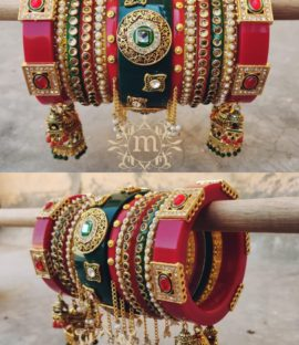 Bridal Chura In Rajwadi Style Latest Design