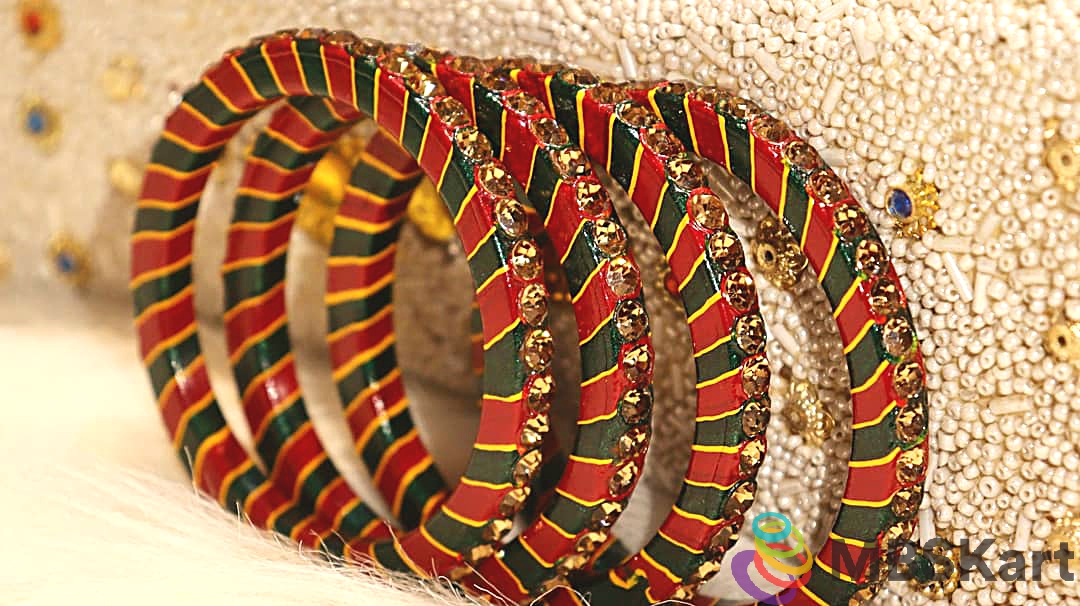 Rajasthani Lakh Bangles with traditional Lehariya Designs